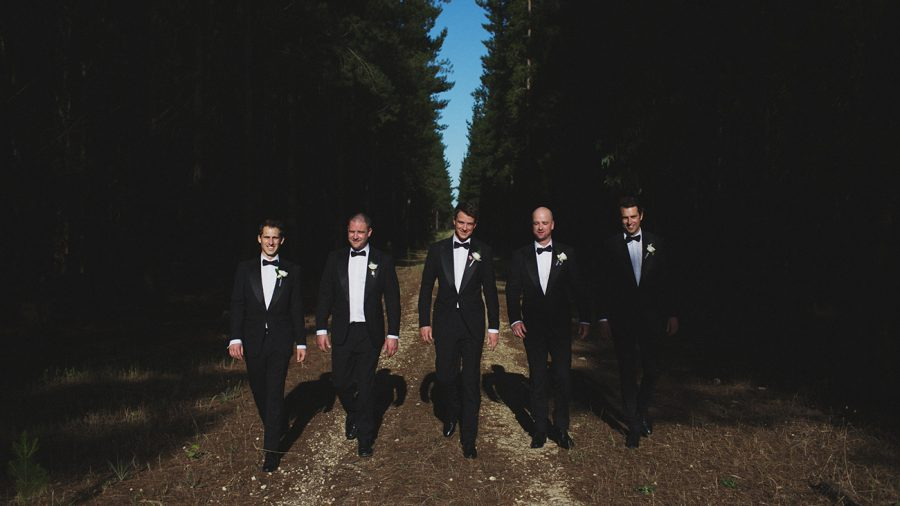 Groomsmen in Adelaide wedding suits by DELUCA Tailors