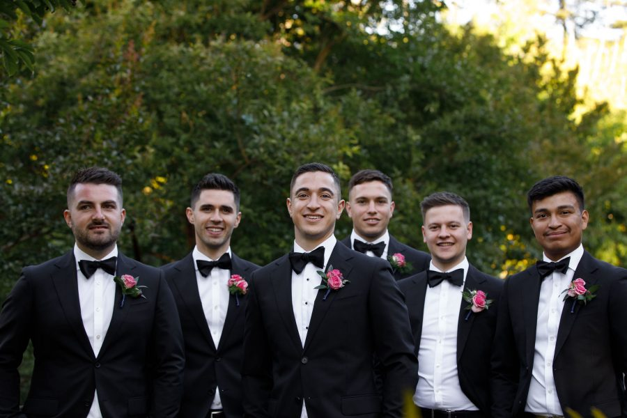 Adelaide groomsmen wearing made-to-measure custom suits by DELUCA Tailors